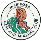 Mariposa Gem and Mineral Club logo 2 inch