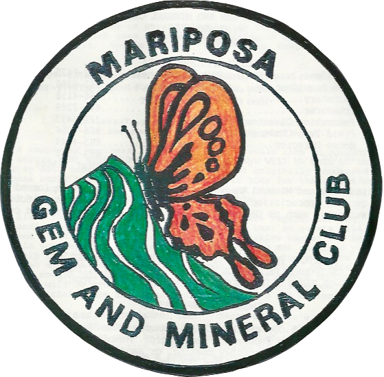 Mariposa Gem and Mineral Club logo 6 inch